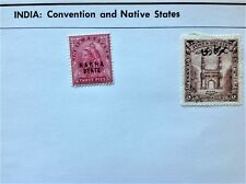 India Stamps Overpinted 1900 Nabha State '31 Hyderabad Lot of 2 Quantity Discnt