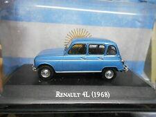 RENAULT 4 L 4L 5 Türer blau blue met. 1968 Argentina Atlas IXO Altaya SP 1:43
