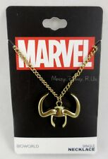-new-marvel-the-avengers-loki-horn-single-pendant-necklace-gold-tone-chain