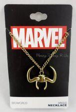 -new-marvel-the-avengers-loki-horn-single-pendant-necklace-gold-tone-chain