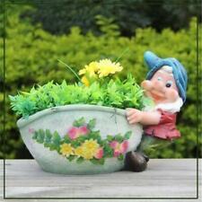 Sintechno Cute Gnome Dragging the Flower Pot Planter