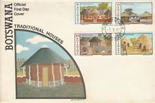 1982 Botswana Traditional Houses complete set of 4 FDC