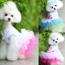 Pet Clothes Puppy Small Dog Cat Cotton Lace Tutu Skirt Apparel Princess Dress