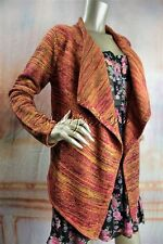 New MINK PINK Orange Red Brown Yellow Triple Swirl Cardigan Sweater XS