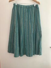 Ladies Skirt Blue Green Size 12 Casual <JJ1071