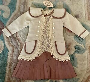 Fancy Dress for French / German Bisque Doll Or Vintage Doll