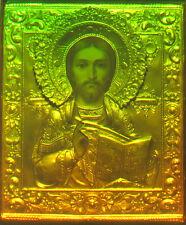 "11x16"" (28x40cm) Icon of Christ the Savior - True 3d Laser hologram on Glass"