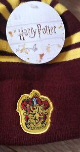 Harry Potter Men's Gryffindor Beanie Woolly Ski Bobble Hat Red