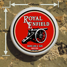 ROYAL ENFIELD MOTORBIKE Light Box LED Games Room Sign man cave garage workshop