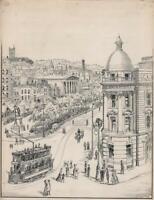 SAMUEL LOXTON (1857-1922) Pen & Ink Drawing VIEW FROM BALDWIN STREET BRISTOL