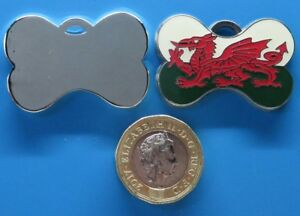 Expressions Engravers Enamelled Welsh Bone Shape pet/dog tag