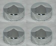 """4 CAP DEAL DOME BULLET 8 LUG CHROME WHEEL RIM CENTER CAP 5.125"""" BORE 2.25"""" TALL"""