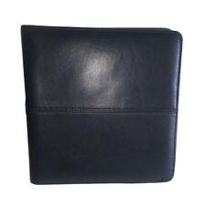 Premium Leather CD DVD Disc Organiser Folio (Black)