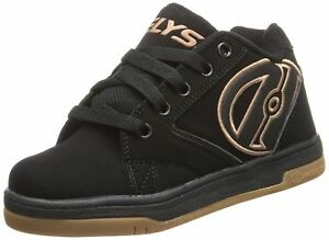 Heelys Propel Mens boys trainer shoes black Gold adult heelys