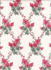 Green Burgundy Ivy Cotton Screen Print Drapery Braemore Fabric By The Yard