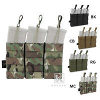 KRYDEX Triple 5.56 .223 Open Top Mag Pouch Modular Tactical Mag Holster MOLLE