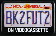 """1989 Back to the Future 2"""" Pinback Button (License Plate)"""