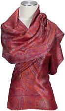 SCIARPA 100% Seta Rosso Red Silk Scarf Foulard soie écharpe sciarpa seitseman