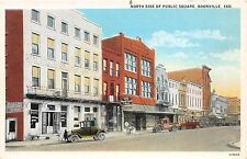 C25/ Boonville Indiana In Postcard c1910 North Side Public Square Stores Garage