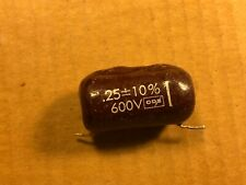 Vintage Cornell Dubilier Brown Drop .25 uf 600v Capacitor Guitar Amp Tone Cap