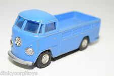 LUCKY PLASTIC HONG KONG VW VOLKSWAGEN TRANSPORTER T1 PICK UP BLUE EXCELLENT