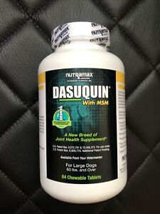 Dasuquin MSM for Large Dogs over 60lbs (84 Chewable Tablets) Exp. 10/2024