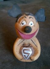 Mickey Mouse SUPERMAN COCONUT HUSK HAND CARVED BANK