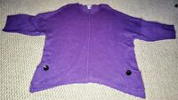 Soft Surroundings Purple Sweater Size 3XL Wool Angora Blend