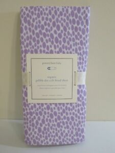 POTTERY BARN KIDS PURPLE & WHITE PEBBLE DOT CRIB FITTED SHEET NEW