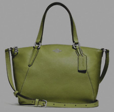 New Coach 28994 mini Kelsey Pebble Leather mini Satchel handbag Yellow Green fbc413fa9be8f