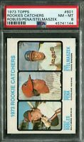 1973 Topps #601 Rookie Catchers Robles/Pena/Stelmaszek PSA 8 NM-MT