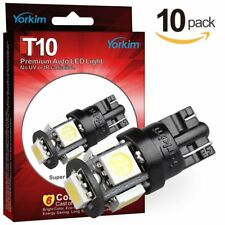 Yorkim 5th 194 LED Bulb White, 2825 LED Bulb, 168 LED Bulb T10, W5W LED Bulb