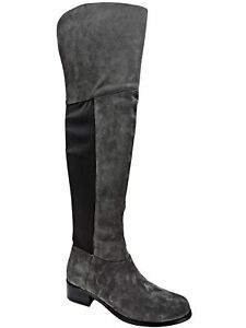 CHARLES DAVID Women's Giza Over-The-Knee Stretch Boots Stone Grey Size 6 M