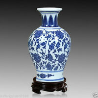 Home decoration China jingdezhen blue and white porcelain vase