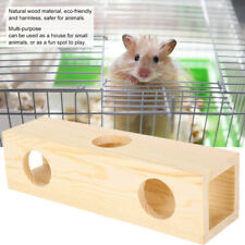 Wooden Small Pet Rat Toy Tunnel Tube  Ladder Hamster Bird Cage Accessories