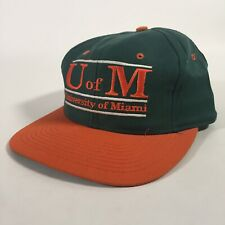 Vintage Deadstock Hat University Of Miami NCAA The Game SnapBack