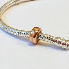 Un Chapado en Oro Rosa tapón sólido de plata esterlina 925 encanto grano-moondrops ™