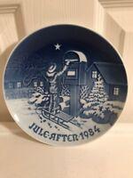 Bing & Grondahl B & G Denmark Christmas Plate 1984 The Christmas Letter