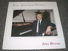 Bevis Something For Everyone John Bercaw~AUTOGRAPHED~RARE Private Piano Jazz