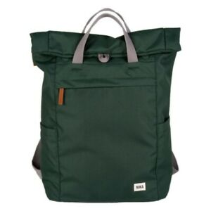 Roka Finchley Medium Sustainable Weather Resistant Backpack Bag Forest