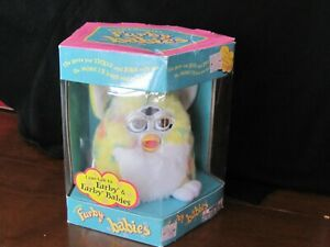 Vintage 1999 Furby Babies 70-940 Yellow Confetti Brown/Hazel Eyes NOS Tiger