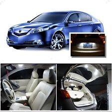 For Acura TL 2009-2014 Xenon White LED Interior kit + White License Light LED