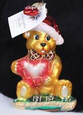 """Christopher Radko """"Bear Wishes"""" Glass Ornament with Tag and Box"""