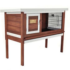 Pet Rabbit Hutch Outdoor Indoor Bunny Home Wooden Outside Inside Hutches Shelter