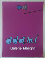 Poster Plakat - Valerio Adami - Galerie Maeght - Paris 1970