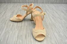 Xoxo Footwear Elroy Heels, Women's Size 6 M, Bone Suede NEW