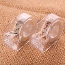 2PCS Practical Transparent Washi Tape Dispenser Desktop Supplies Tape Cutting