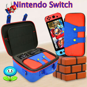 Nintendo Switch Protector Cute Hard Case Mario Protable Cover NS Carry Combo Bag