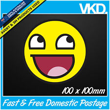 Epic Smiley Sticker/ Decal - Drift Face Turbo Meme Bomb JDM ILLEST FATLACE 4x4