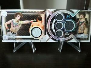 SEAN O'MALLEY DEBUT MAT RELIC #/75 & FIGHTER-WORN RELIC #/50 2018 UFC MUSEUM